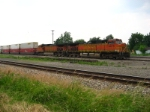 BNSF 4475 sits on the siding