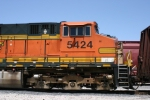 BNSF 5424  sits and waits to get picked up from the next westbound freight.