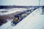 1389-22 Westbound C&NW coal train approaching Valley Park