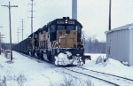 1389-25 Westbound CNW coal train at Valley Park Yard