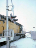 1389-27 Westbound C&NW Coal Train Approaches Valley Park