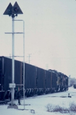 1389-29 Westbound CNW coal train at Valley Park Yard