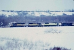 1389-30 Westbound CNW coal train passes Valleyfair