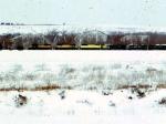 1389-32 Westbound CNW coal train passes Valleyfair