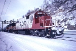 1390-01 Eastbound SOO/MILW freight passes Hoffman Ave