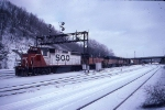 1390-07 Westbound SOO/MILW freight passes Hoffman Ave