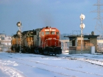 1390-34 Westbound SOO/MILW freight passes Robert Street diamond