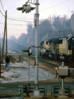1403-20 Westbound CNW coal train at Chestnut St