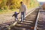 A fall day walk on the C&NW in 1989