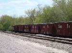 Grain train sitting