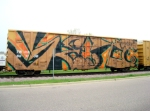 TBOX 661108 with a full-body graffiti job
