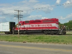 WSOR 4002 getting ready to leave with a train for Prairie du Chien