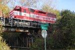 WSOR 4076 on the Sheridan Drive bridge