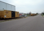 Boxcars on the industrial park spur