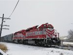 WAMX 4180 sits in the gently falling Christmas Eve snow