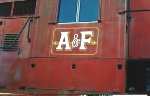 Shot of original AFLR logo on now derelict ex Chessie GP unit.  The logo is based on the old steam era L&N logo.