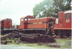 AFLR 1214 sits with former Chessie Geeps at Opp, AL in early 1990s.  Ken Roble photograph