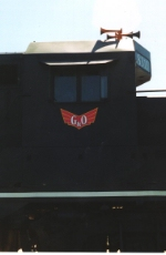 Shot of G&O Railways logo shows the nod to the GM&O winged logo.