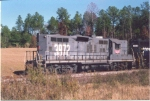 WGCR 3872 is a former SP GP9E working for the Wiregrass Central on a grain train