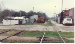 1989 view of WGCR main in Downtown Enterprise, AL looking west from the old depot