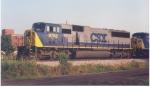 CSX 8768 leading Q615 at Lanett in the mid 2000s.
