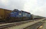 An SD40-2 passenger train