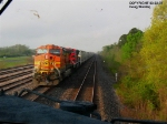 Heading west as BNSF's M-TULDYT heads into the siding