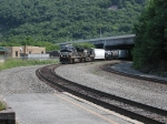 Westbound NS Train rounding curve