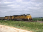 UP 8026 Moving WB with Coal Empties