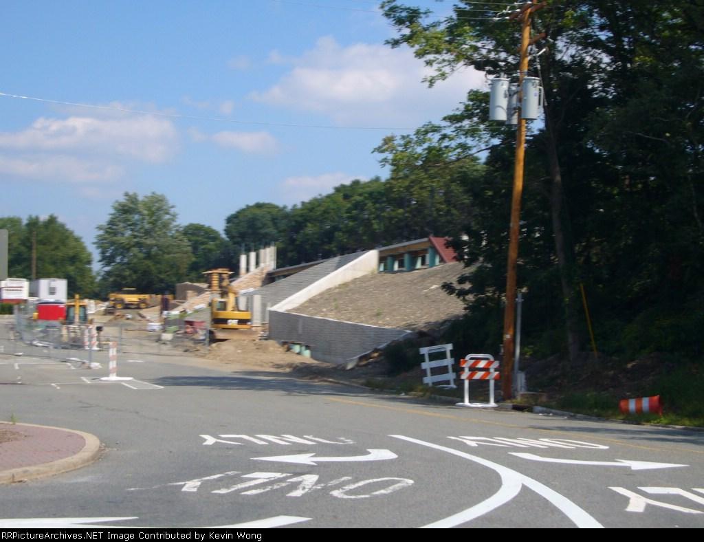 NJ Transit Mount Arlington station construction, 9/3/07