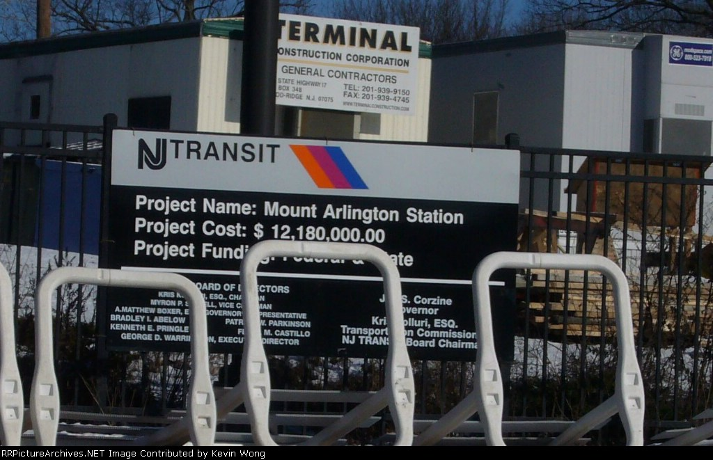 Mount Arlington station project