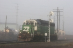 BNSF 2759 in the fog