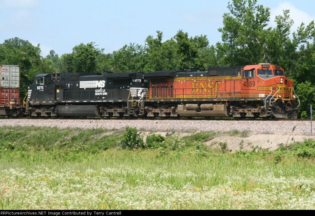 BNSF 4859 NS 9275