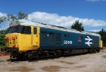 "The last class 50 built, ""Defiance"""