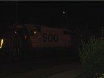 Flash night shot of SOO 4429 trailing on the M&P local