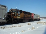 SOO 2066 trails 4419 on the returning M&P local
