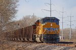 813's string of loaded coal gons creeps along the M&P branch