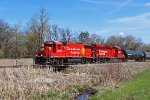 G85 crosses a short bridge over a drainage ditch on its way back from Madison