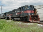 MEC 503 & 517 (Pan Am) with train in yard