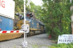 and slowed for the siding