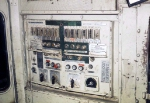 GE U50 cab interior: Control Switches and AMMETER Rear Engine