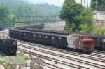 NS eb coal train with caboose