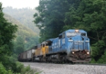 NS EB freight heading for the Elkhorn tunnel