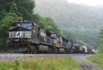 Pusher set helping an EB freight train get to Bluefield