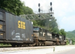 NS EB freight under the new signals