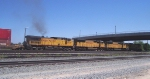 UP 9626 brings up the rear of four unit UP double stacktrain leaving Nampa Yard.
