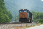 CSX EB coal train just went under the Virginian mainline