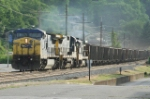 CSX EB coal train with dash 7 in the consist