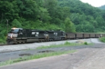 NS NB coal train heading for Auville