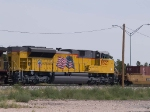 UP 8527 #5 power in in WB doublestack at 10:56am